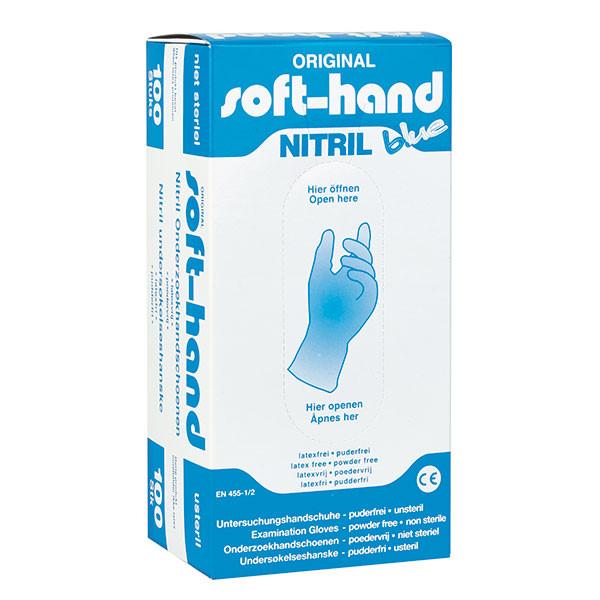 soft hand nitril blue Einmalhandschuhe