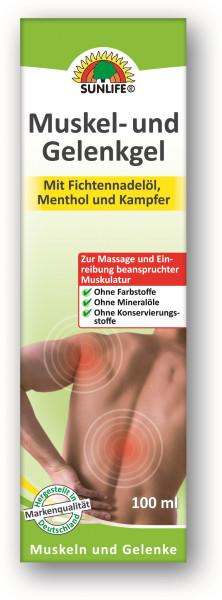 SUNLIFE® Muskel- und Gelenkgel, Tube 100ml