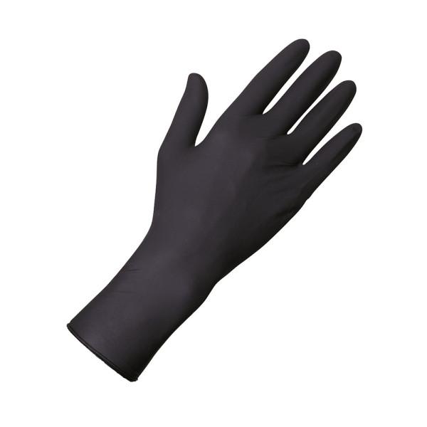 Select Black 300, Latexhandschuhe,extra-lang,schwarz, Box 100 St.