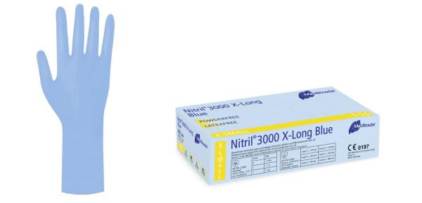 Nitril® 3000 X-Long Blue, Box 100 Stück