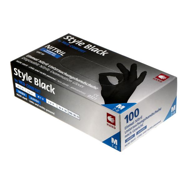 Ampri Style Black Nitrilhandschuhe schwarz