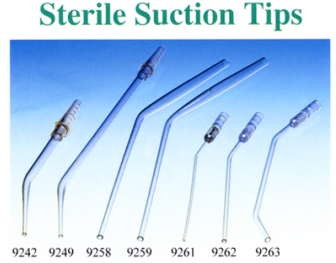 sterile suction tips, absaugkanülen