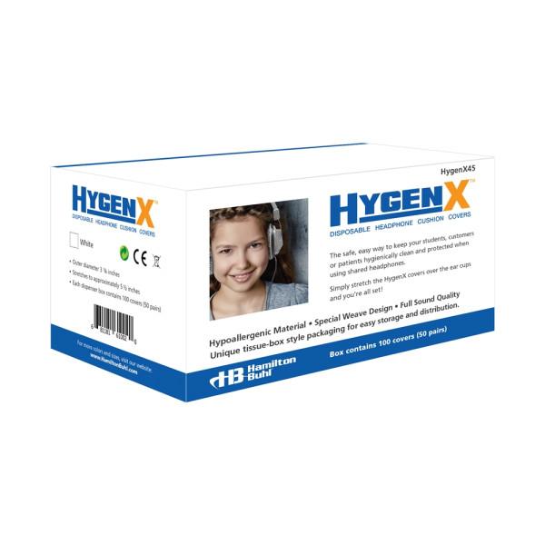 Hygieneschutz fuer Kopfhoerer bis 11 cm weiß Spenderbox