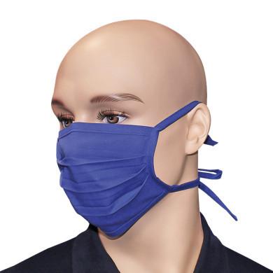 Behelfsmundschutz blau Baumwolle waschbar