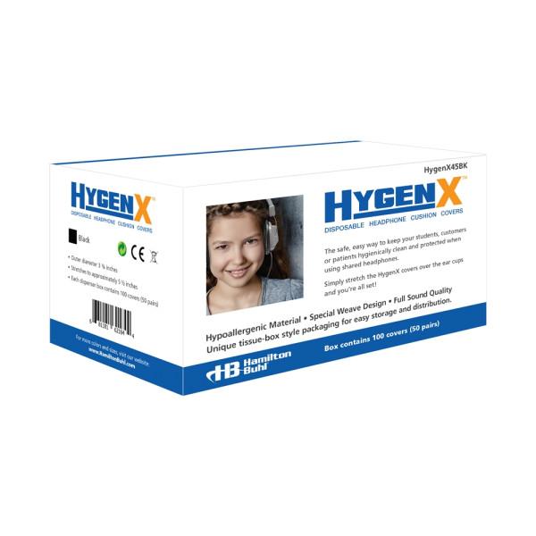 Hygieneschutz fuer Kopfhoerer bis 11 cm schwarz Spenderbox