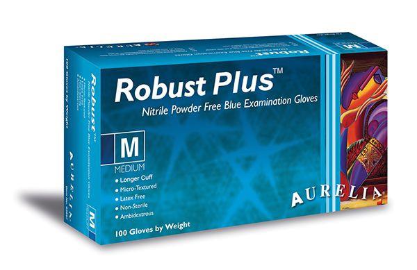 Aurelia® Robust Plus Nitril X-long, blau, Box a`100 St.