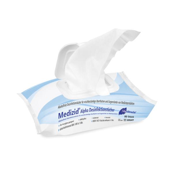 Medizid® Alpha Desinfektionstücher (Flowpack)