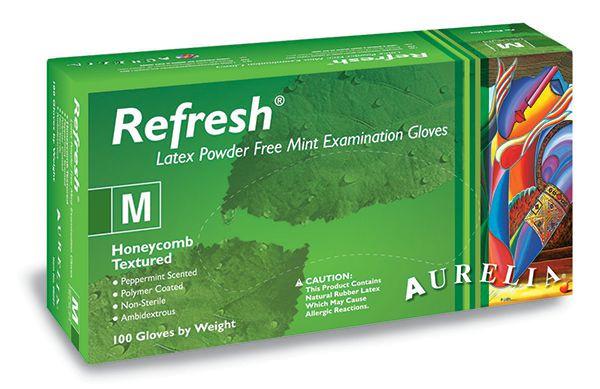 AURELIA® Refresh® Latex Mint; Box a`100