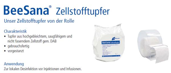 BeeSana® Zellstofftupfer (Rl. a 500 Stück)